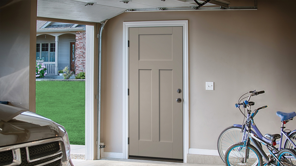 Entry Patio House To Garage Back Of And